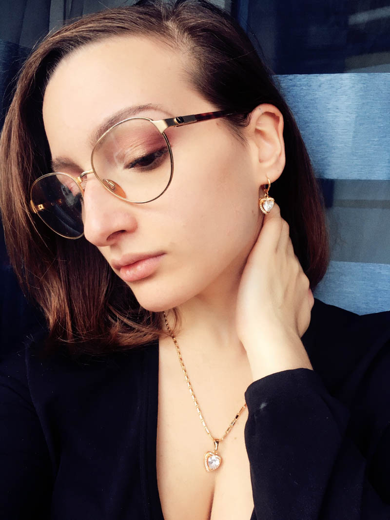 Giulia's CZ Heart Jewelry Lookbook Collection