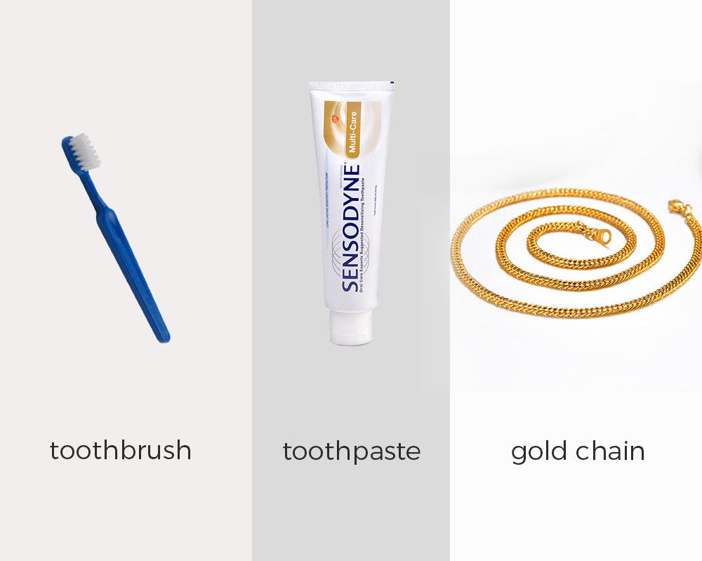 Clean Gold Chains with Toothpaste and Soft Cloth