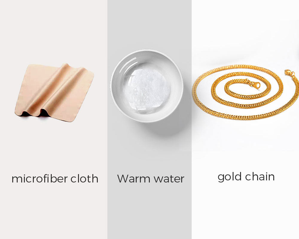 Clean Gold Chain With Warm Water-Soft Cloth