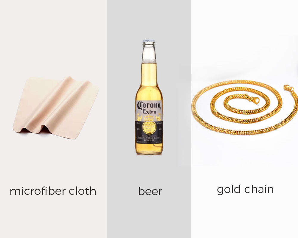 Clean Gold Chain Necklace With Beer
