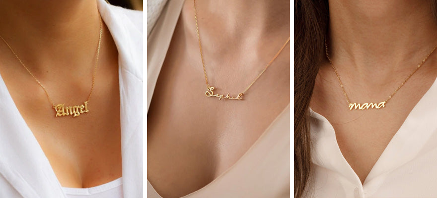 Wear a single name necklace on its own
