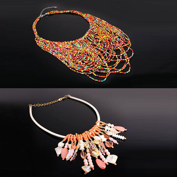 African style coral beads necklace
