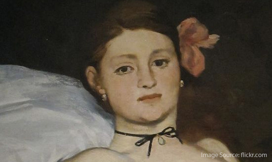 Manet-s-Olympia-s-portrait-of-wearing-choker-necklace