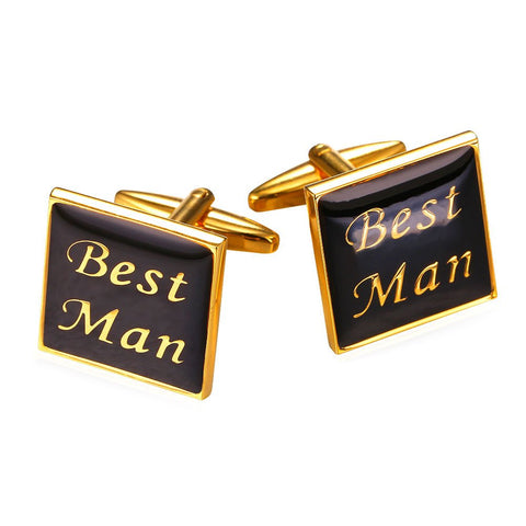 Best Men Cufflinks For Mens Gift 18K Gold Plated Wedding Groom Cufflinks with Gift Box
