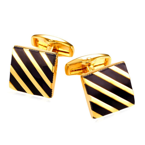 Vintage Diagonal Stiripes Business Men Cufflinks French Shirts Cuff Button With Gift Box High