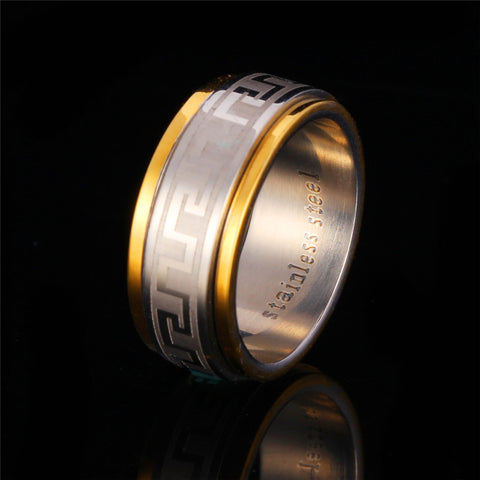 gold men ring -the rule of wearing rings