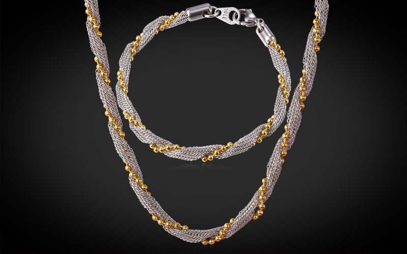 Gold Plated Rope Necklace for You Multi-Tone 18K Gold Plated Rope Necklace