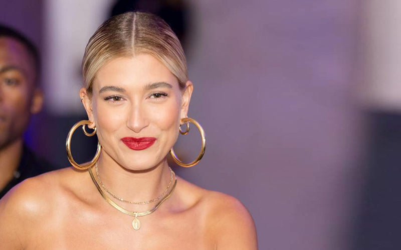 Hailey Baldwin Wear Double Hoops