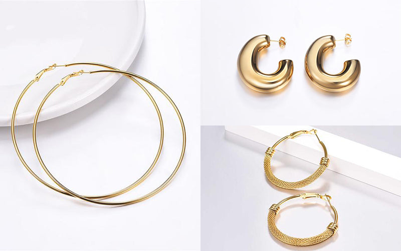 Hoops Earrings for Square Shaped Face