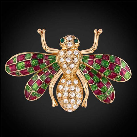 How to wear a brooch Crystal Bee Brooches