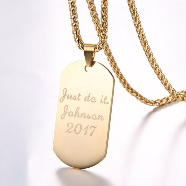 Customized Dog Tag Necklace