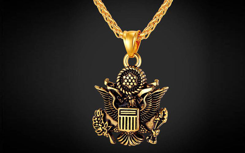 Independence Day Gift for Your Friend and Family-Seal of United States Chain & Pendant Necklace
