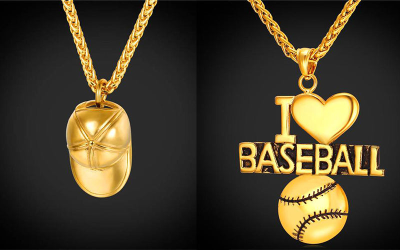 Independence Day Gift for Your Friend and Family-Baseball Pendant Necklace