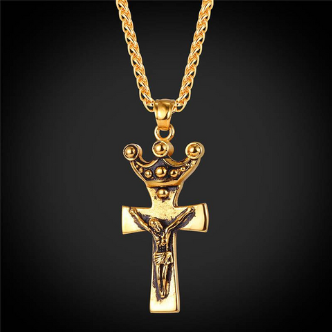 Jesus Christ Cross Jewelry For Men