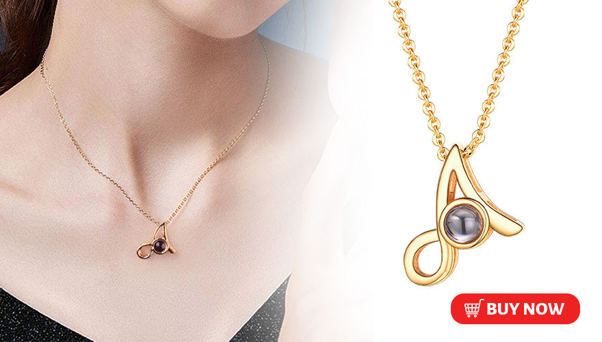 I Love You In 100 Language Initial Letter Necklace