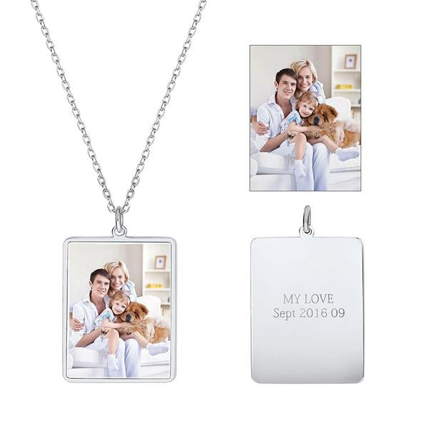 Engravable Photo Necklace
