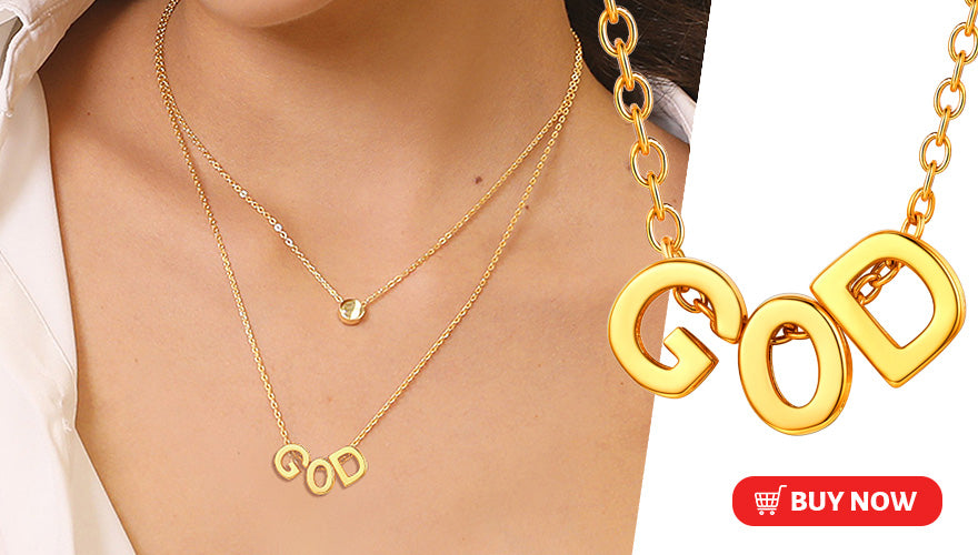 Simple High Polished Personalized Initial Necklace