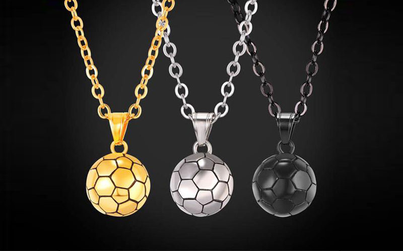 Sport Inspired Necklace-Soccer Ball Pendant Necklace