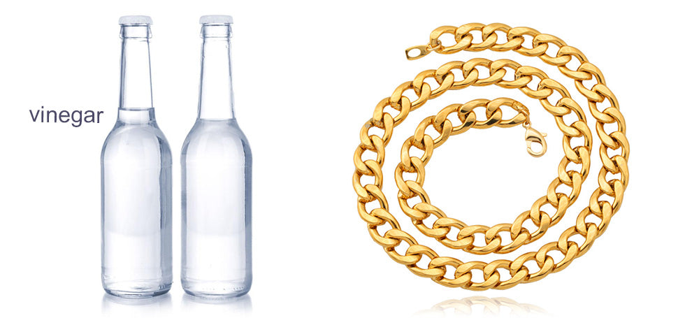 Test real gold chain with White Vinegar