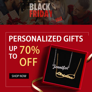 Black Friday Personalized Gift Sale 70% Off Banner