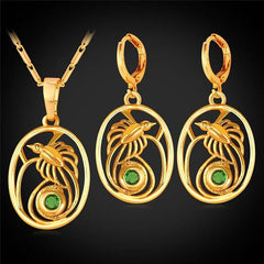 Papua New Guinea bird of paradise gold jewelry