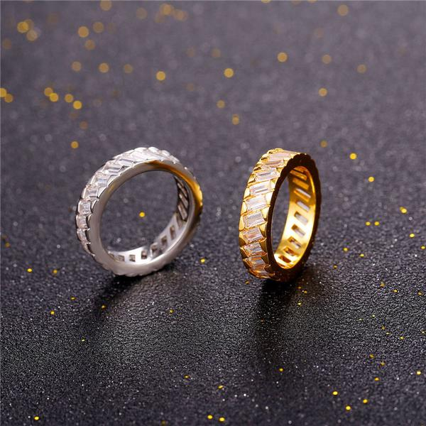 gold plated ring with bling crystal