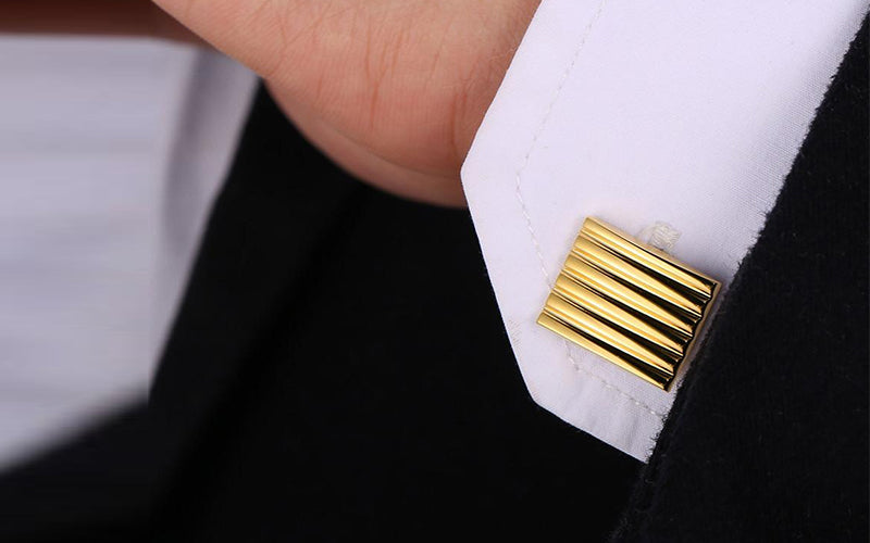 Classic 18K Gold Plated Enamel Cufflinks For Man