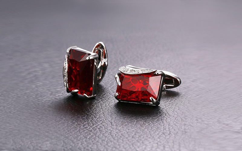 Fancy Stones Cufflink For Man