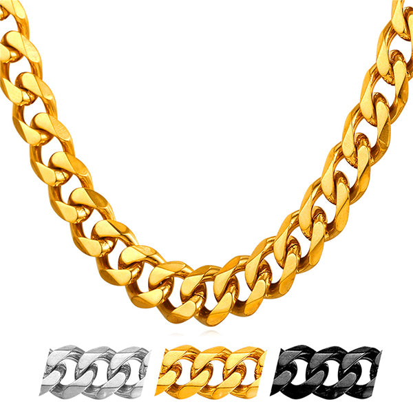 classic simple Cuban link chains