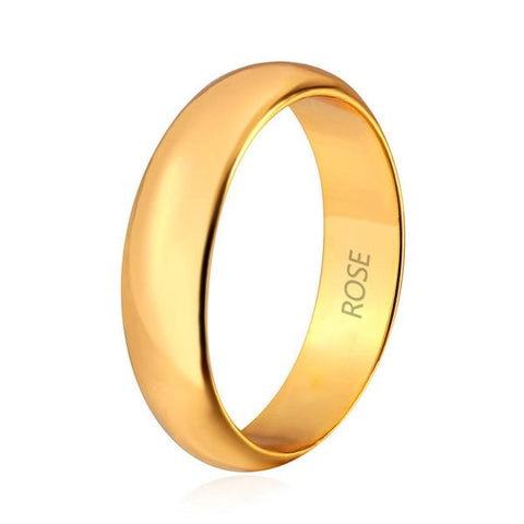 gold plated wedding band for wedding