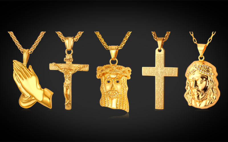 Hip Hop Fashion Jewelry Wholesale 18K Gold Plated Jesus Piece