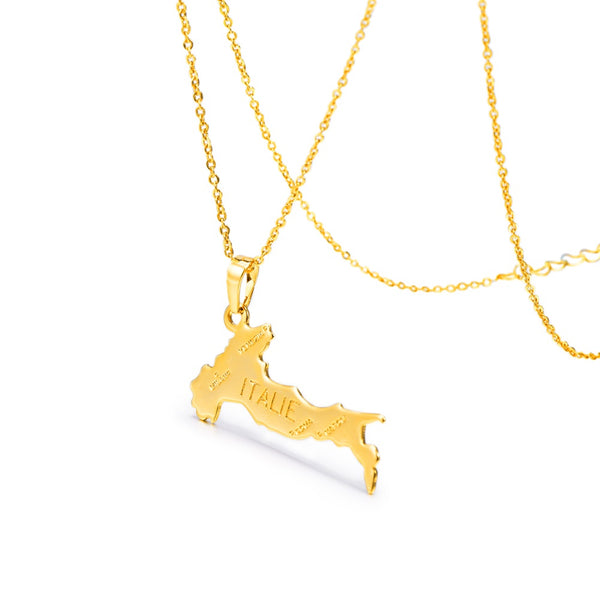 Italy inspired gold plated pendant necklace