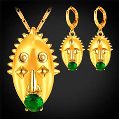 Papua New Guinea mask gold jewelry