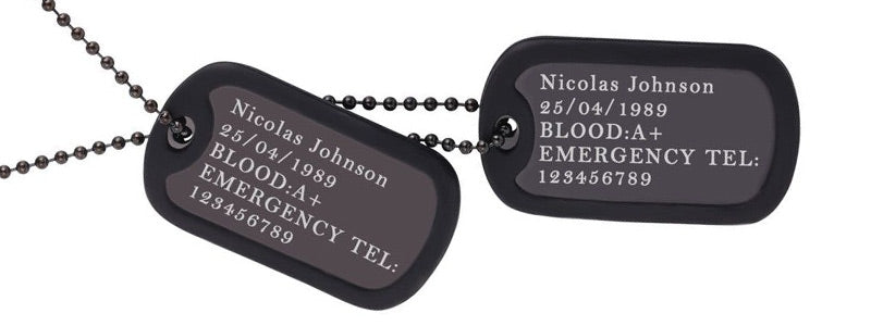 what to engrave on dog tag