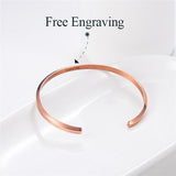 Half Circle Cuff Bracelet Simple Gold/Black/Rose Gold/Stainless Steel 3.8MM Bangle For Women