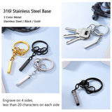 Custom Personalized 4 Sides Engraving Verticle Bar Keychains
