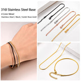 Classic 1.5mm Wide Thin Round 18k Gold Plated Snake Chain Bracelet For Men And Women
