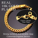 Exclusive 3mm/4.5mm/6mm Wide 18k Gold Plated Double-Layer Cuban Chain Bracelet For Men And Women