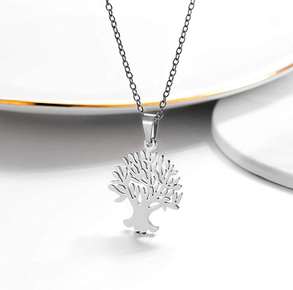 Exquisite Family Tree Of Life Pendant Women Necklace 18K Gold Plated