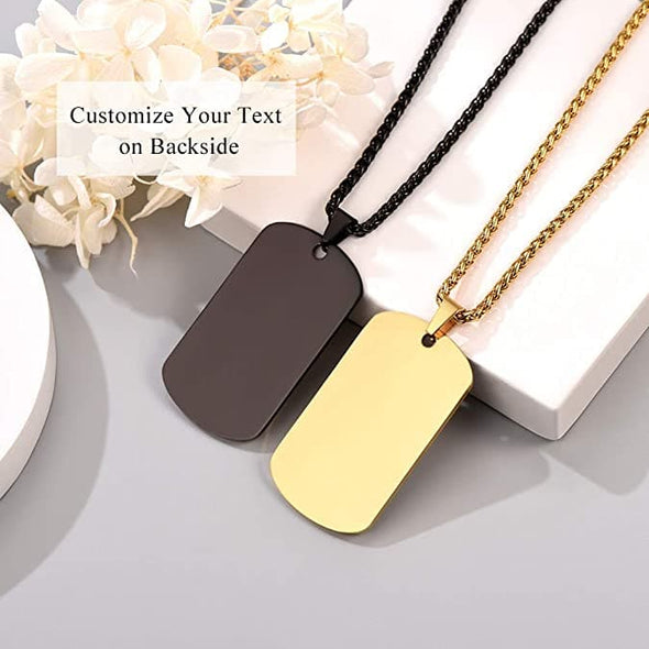 Engravable Allah Military Dog Tag Necklace Muslim Islamic Jewelry
