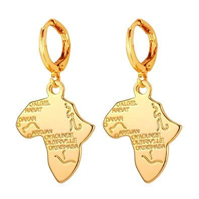 Africa Map Dangle Earrings Fashion Country Map Shaped Women Jewelry