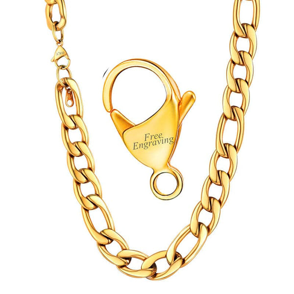 12MM Wide Big Figaro Chain Necklace for Men and Women