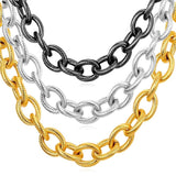 Chunky Chain Necklace 13MM Wide Circle Chain Necklace For Men and Women