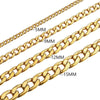 Chunky Cuban Chain Bracelet 5MM/9MM/12MM/15MM With 316L Stainless Steel/ 18k Gold/ Black Plated Hip Hop Curb Link Jewelry