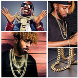 Rapper Iced Out Cuban Chain 14MM Chunky Link Chain 18K Gold Plated Migos Jewelry