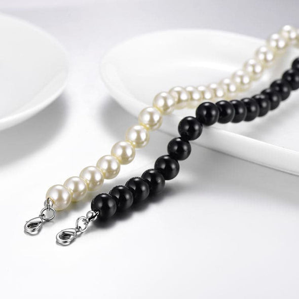 Pearl Necklace Jewelry Wholesale Resizable Black/White Pearl Choker Necklaces Women Gift