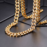 Hot Hip Hop Men Iced out Cuban Link Chain 14MM Chunky Jewelry