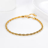 Rope Chain Anklet Gold / Platinum Plated 22 CM Length 3MM Diameter Charm Jewelry