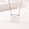 Minimalistic Personalized Engravable Square Plate Choker Necklace