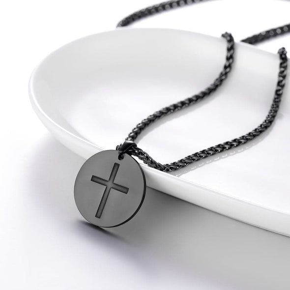 Personalized Crucifix Necklace Free Engraving 925 Sterling Silver Jewelry